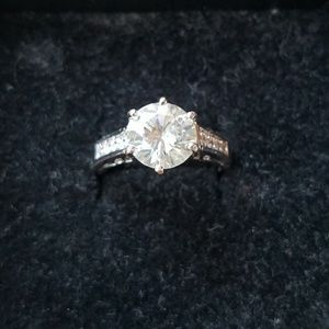 Jewelry - 3.40 Carat Moissanite 10K Gold Filled - Size 6.5
